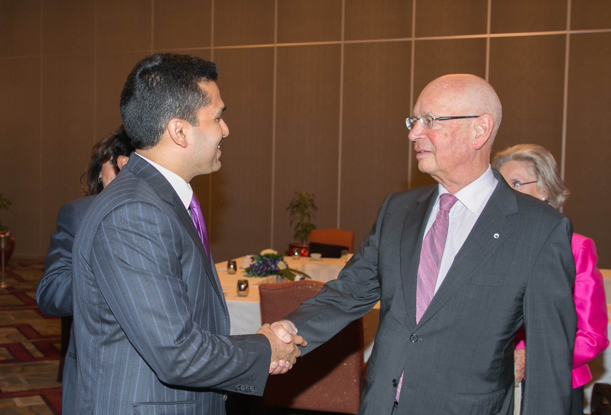 With Mr. Klaus Schwab, founder and Executive Chairman of the World Economic Forum