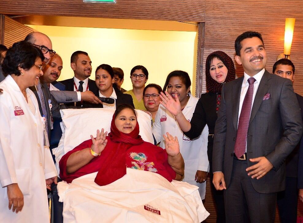 Former heaviest woman, Eman, receives treatment at Burjeel Hospital