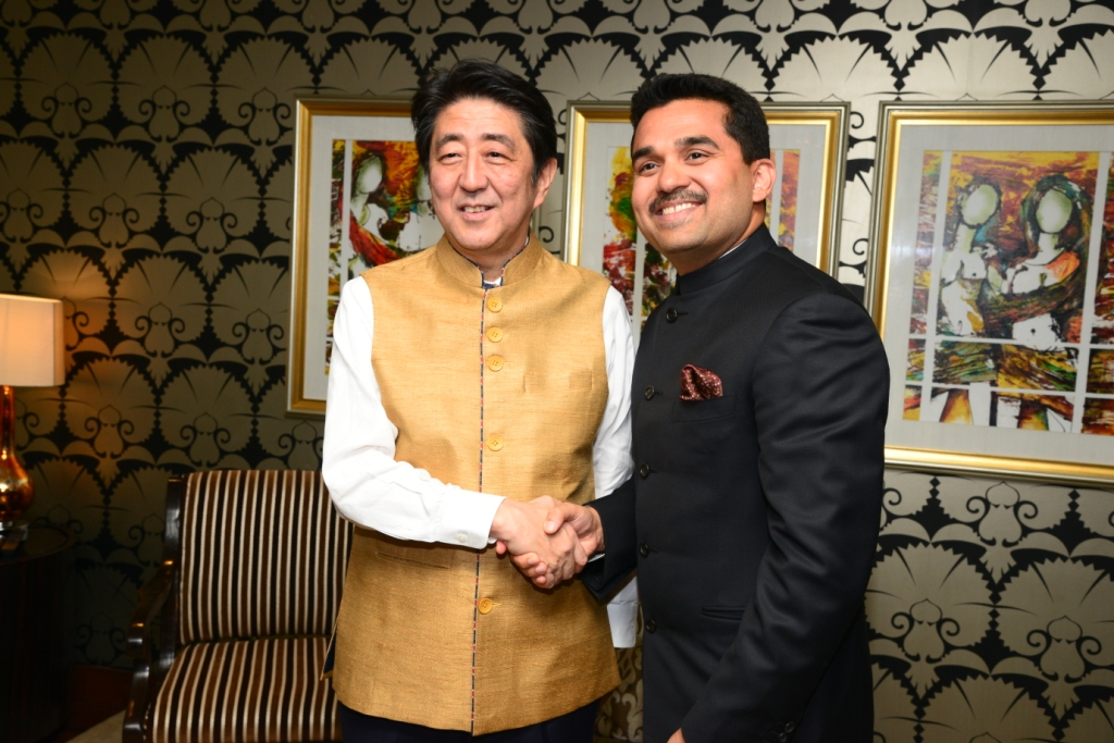 With Mr. Shinzo Abe, Hon. Prime Minister of Japan