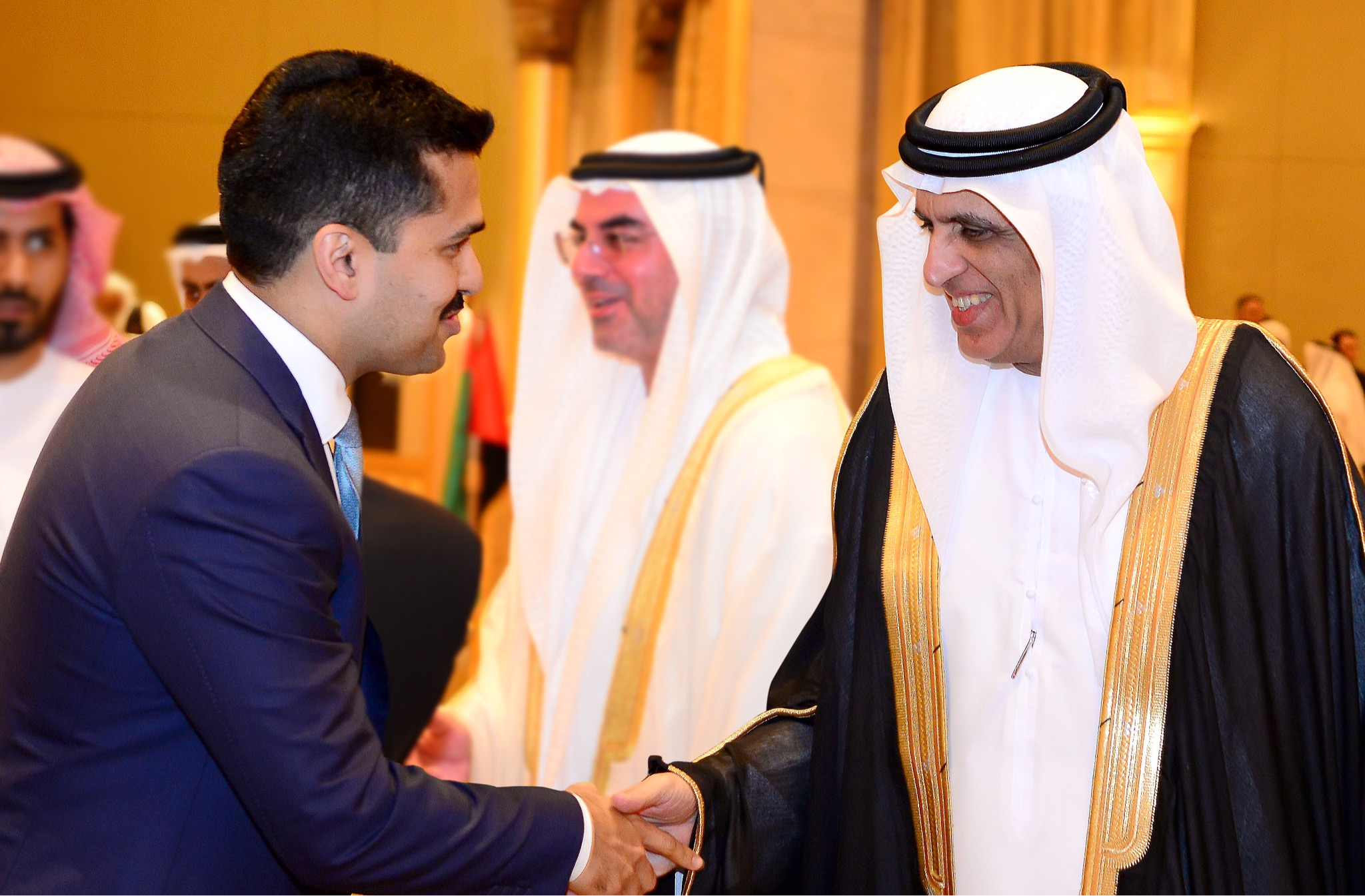 With H.H. Sheikh Saud bin Saqr Al Qasimi, Supreme Council Member and Ruler of Ras al-Khaimah